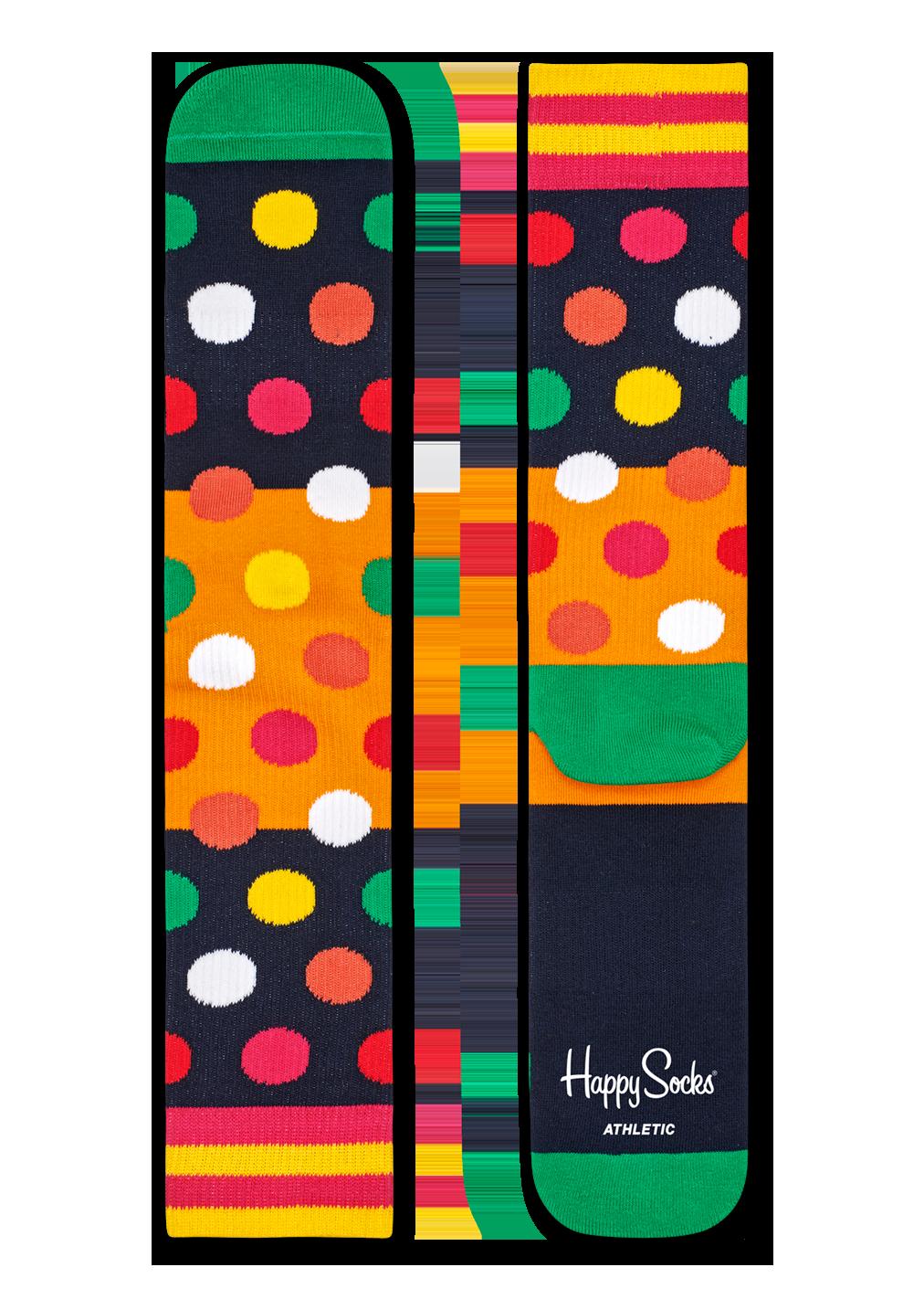 Athletic Big Dot Block Sock