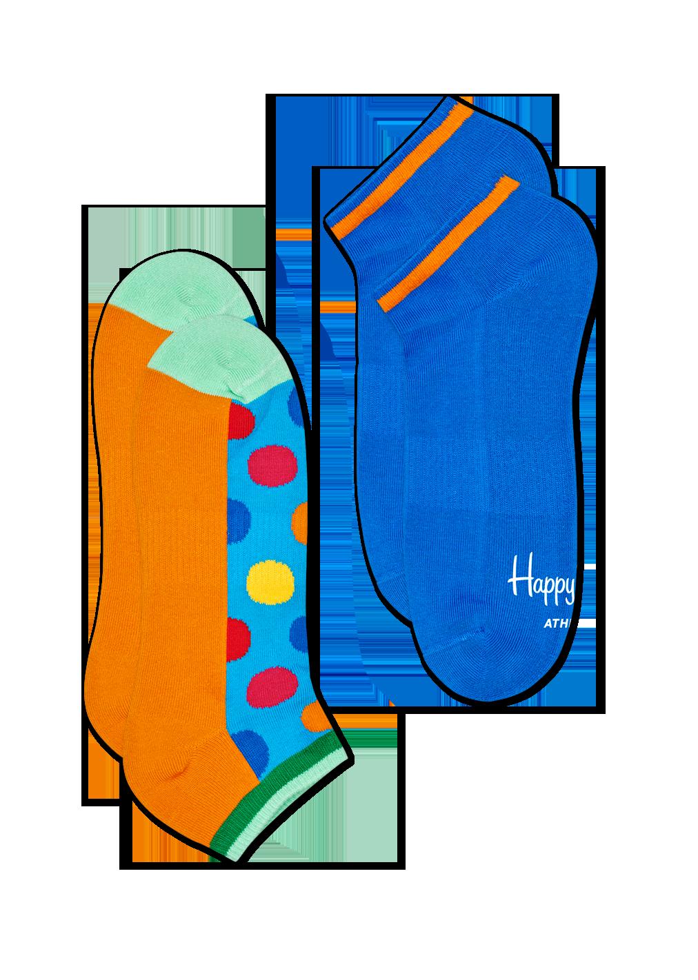 2-Pack Athletic Big Dot Low Sock
