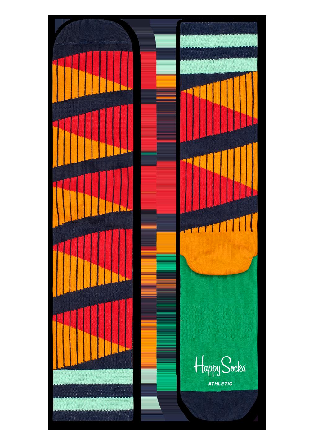 Athletic Double Diagonal Sock