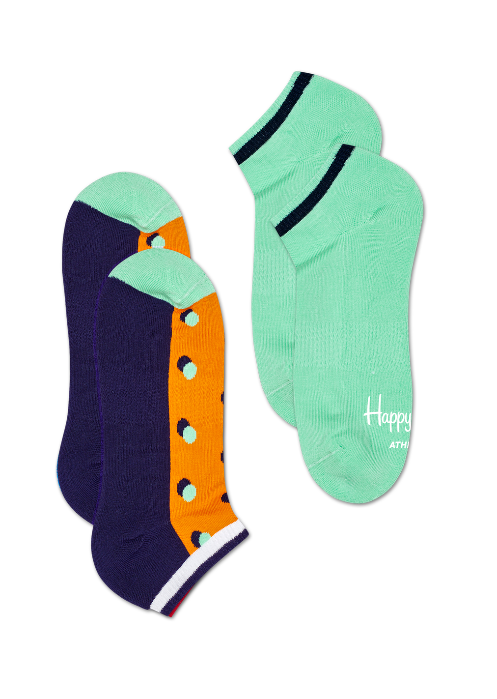 2-Pack Athletic Shadow Dot Low Sock