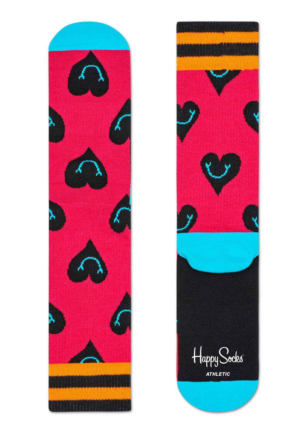 Athletic Smiley Heart Sock