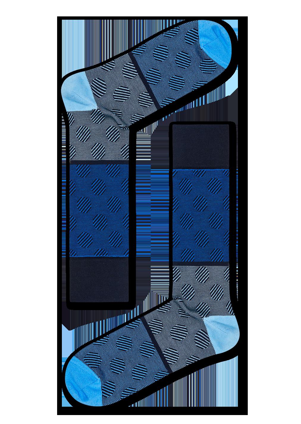 Dressed Big Dot Block Sock