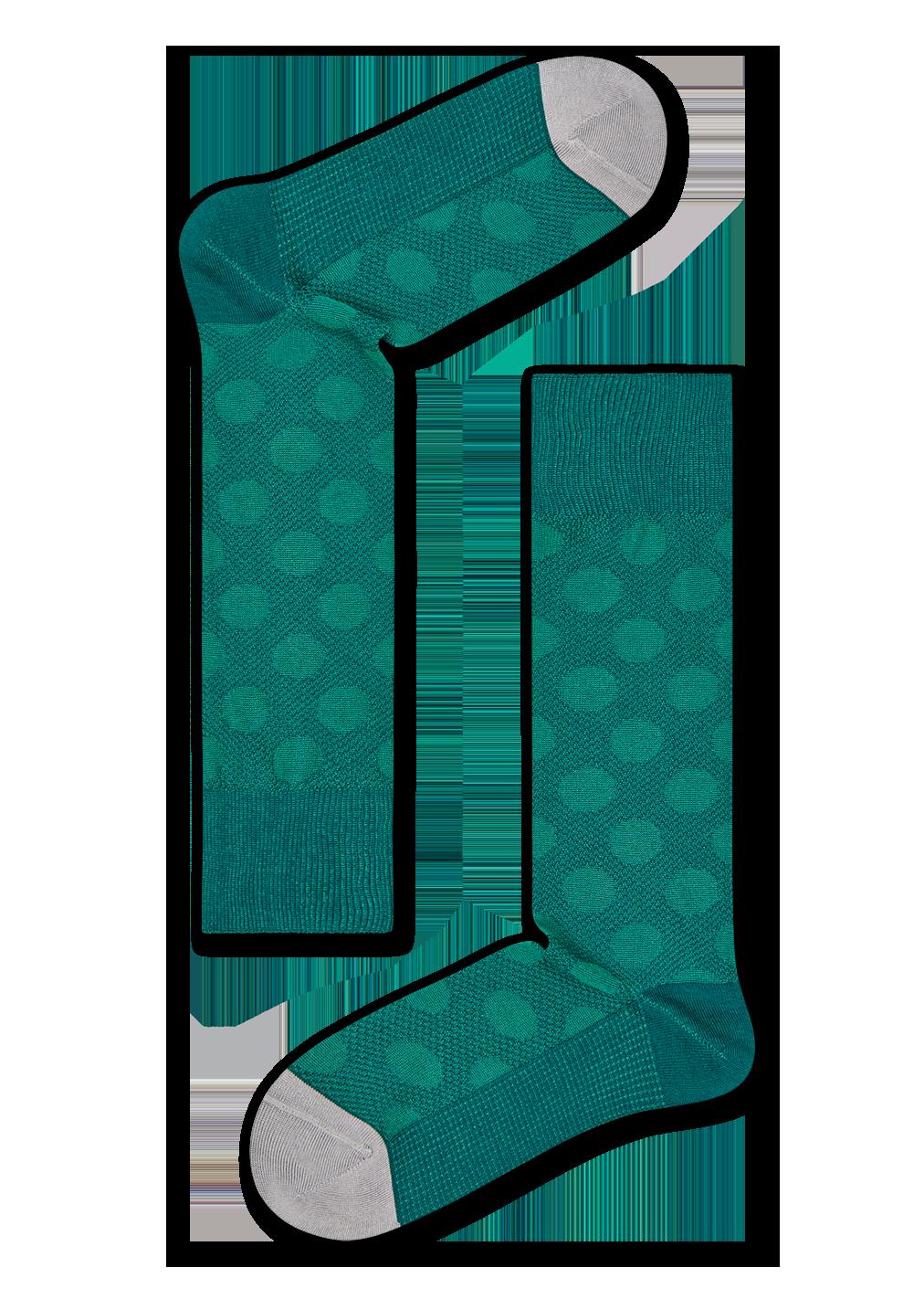 Dressed Big Dot Structure Sock