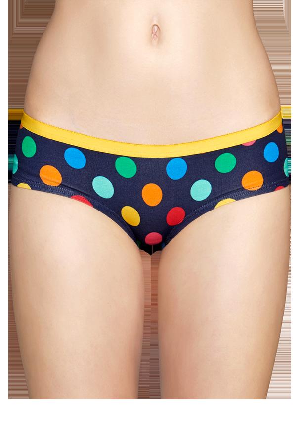 happy socks female big dot hipster size l