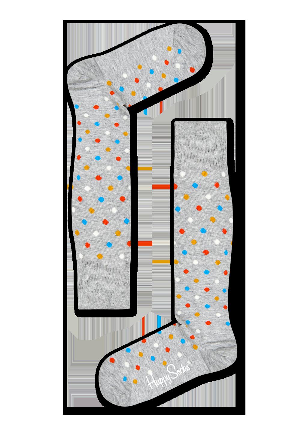 Chaussettes de contention rayées à pois Dot, Taille 45-47