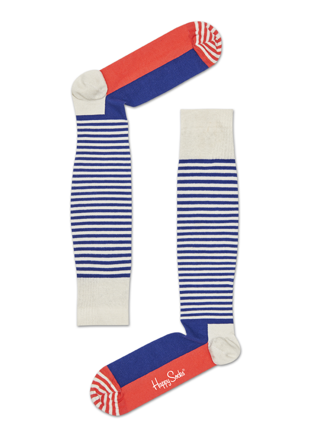 Chaussettes de contention Compression Half Stripe, Taille 45-47