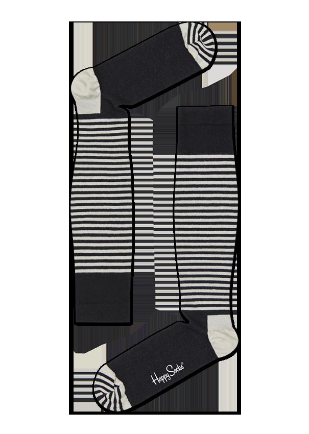 Chaussettes de contention rayées Half Stripe, Taille 36-38