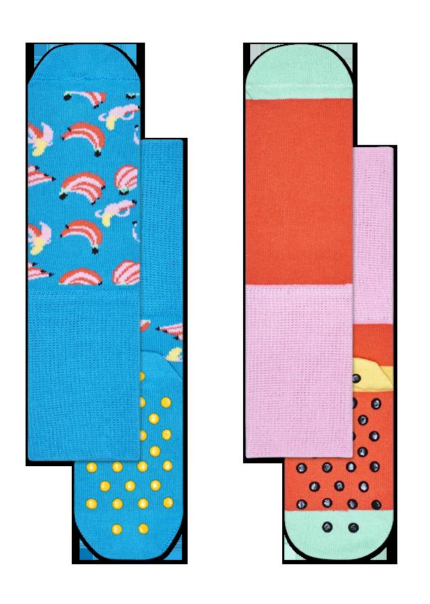 Kids 2-Pack Banana Anti-Slip Socks