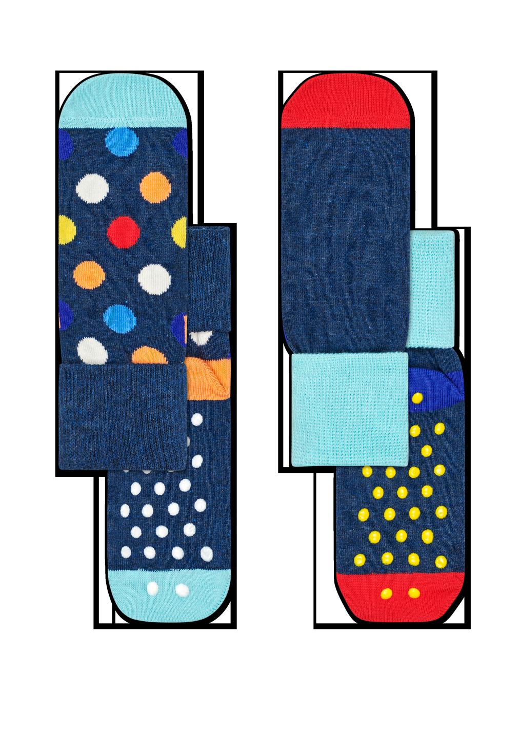 2-Pack Big Dot Anti-Slip Socks