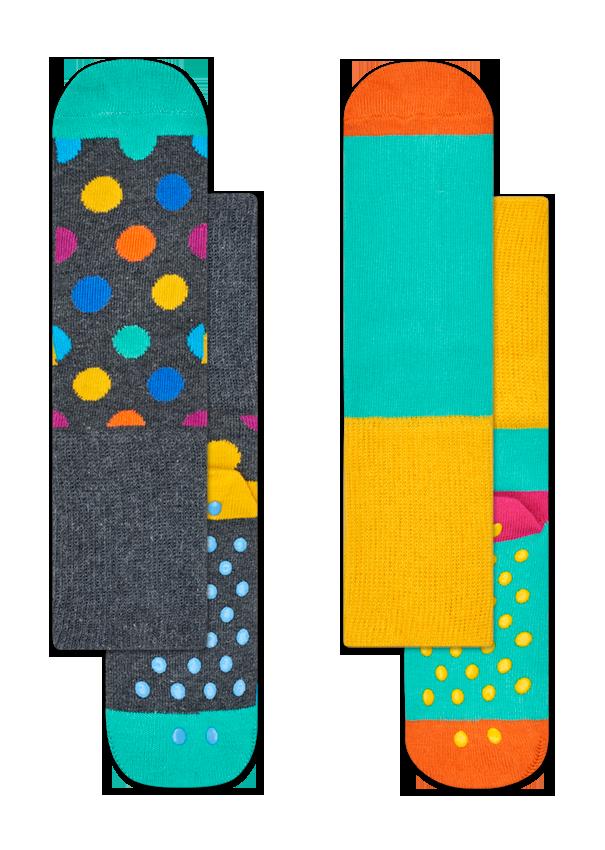 Kids 2-Pack Big Dot Anti-Slip Socks