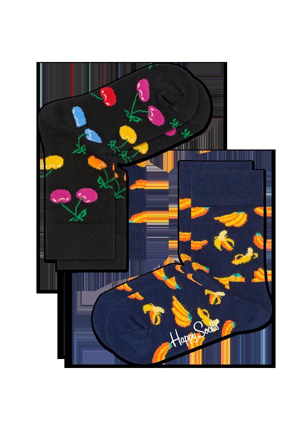 Kids 2-Pack Cherry Sock