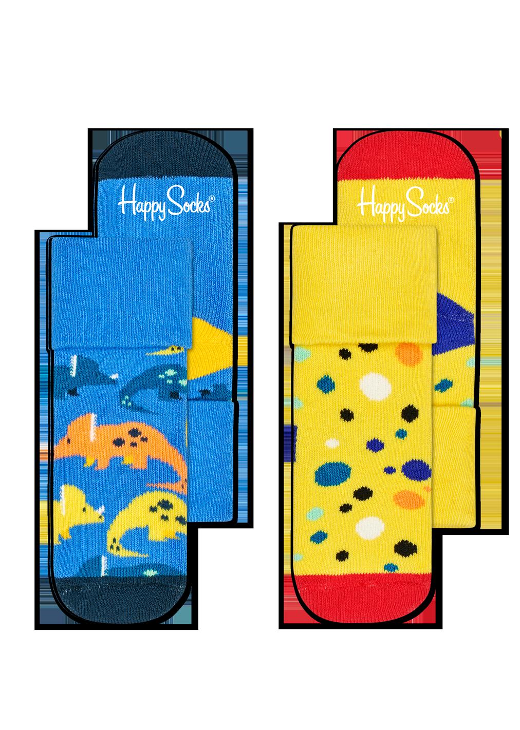 2-Pack Dinosaur Terry Socks