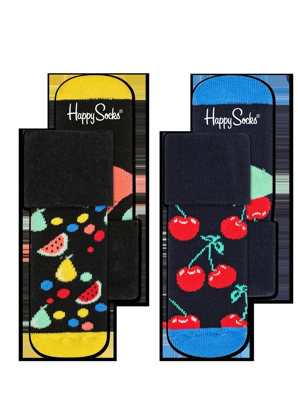 2-Pack Fruit Salad Terry Socks