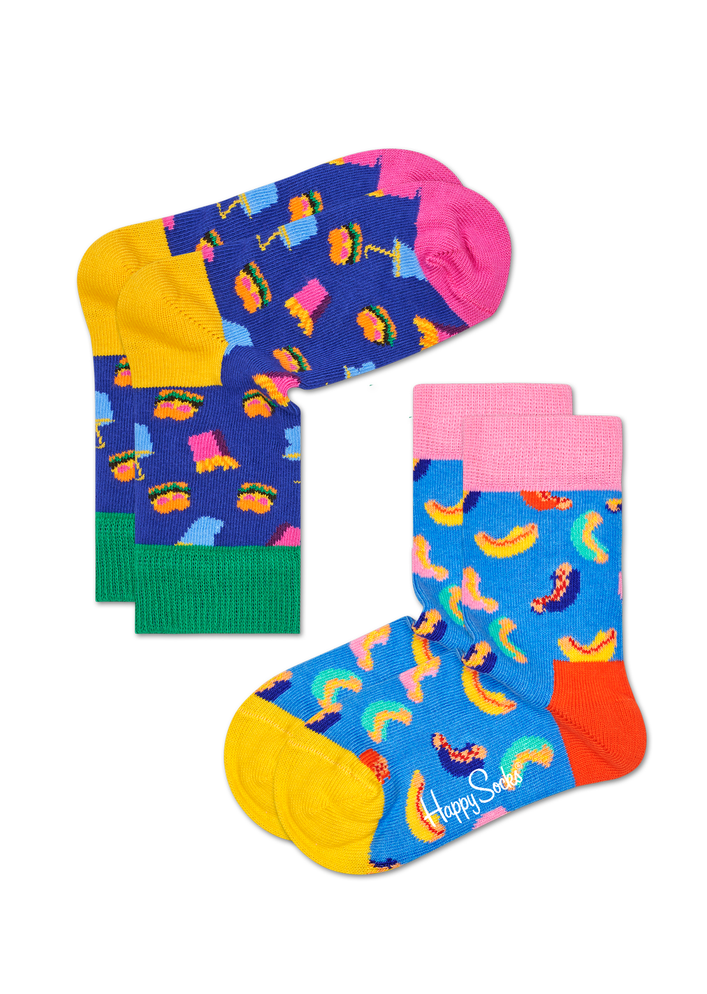 2-Pack Hamburger Socks