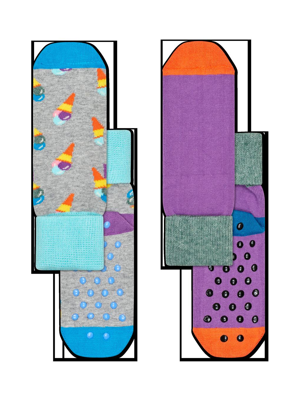 2-Pack Ice Cream Anti-Slip Socks