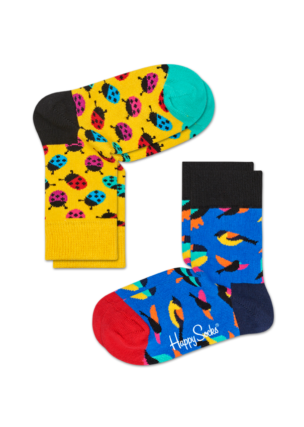 Kids 2-Pack Ladybug Sock
