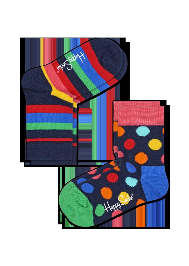 Kids 2-Pack Stripe Socks
