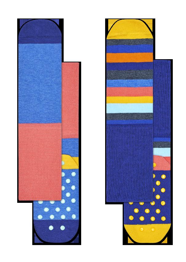 Kids 2-Pack Stripe Anti-Slip Socks
