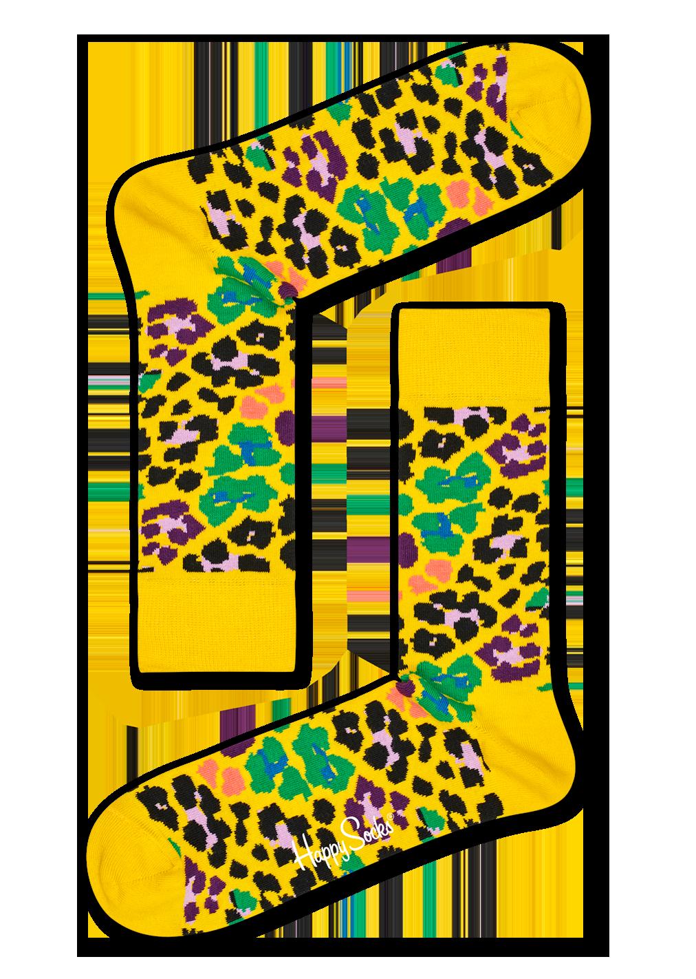 Multi Leopard Sock