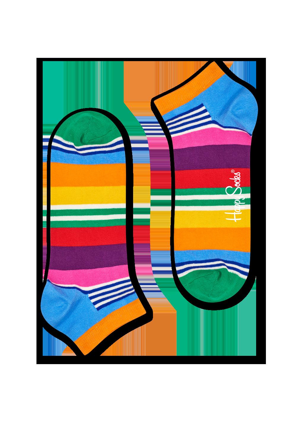 Multi Stripe Low Sock