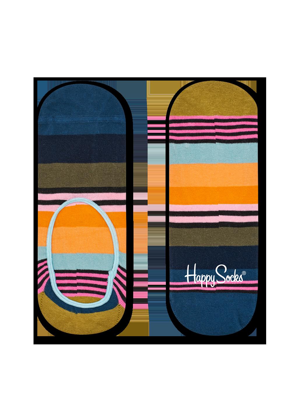 Multi Stripe Liner Sock