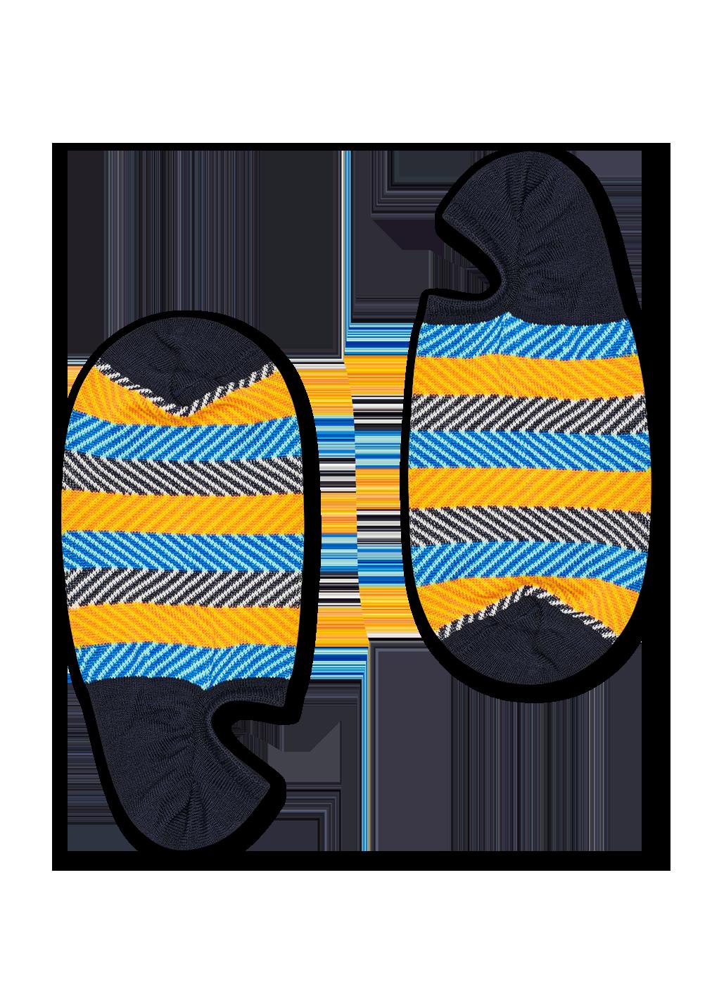 Dressed Multi Stripe No Show Sock