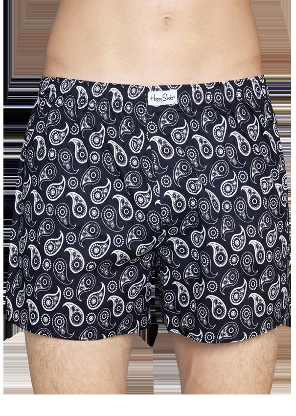 happy socks male paisley boxer size l