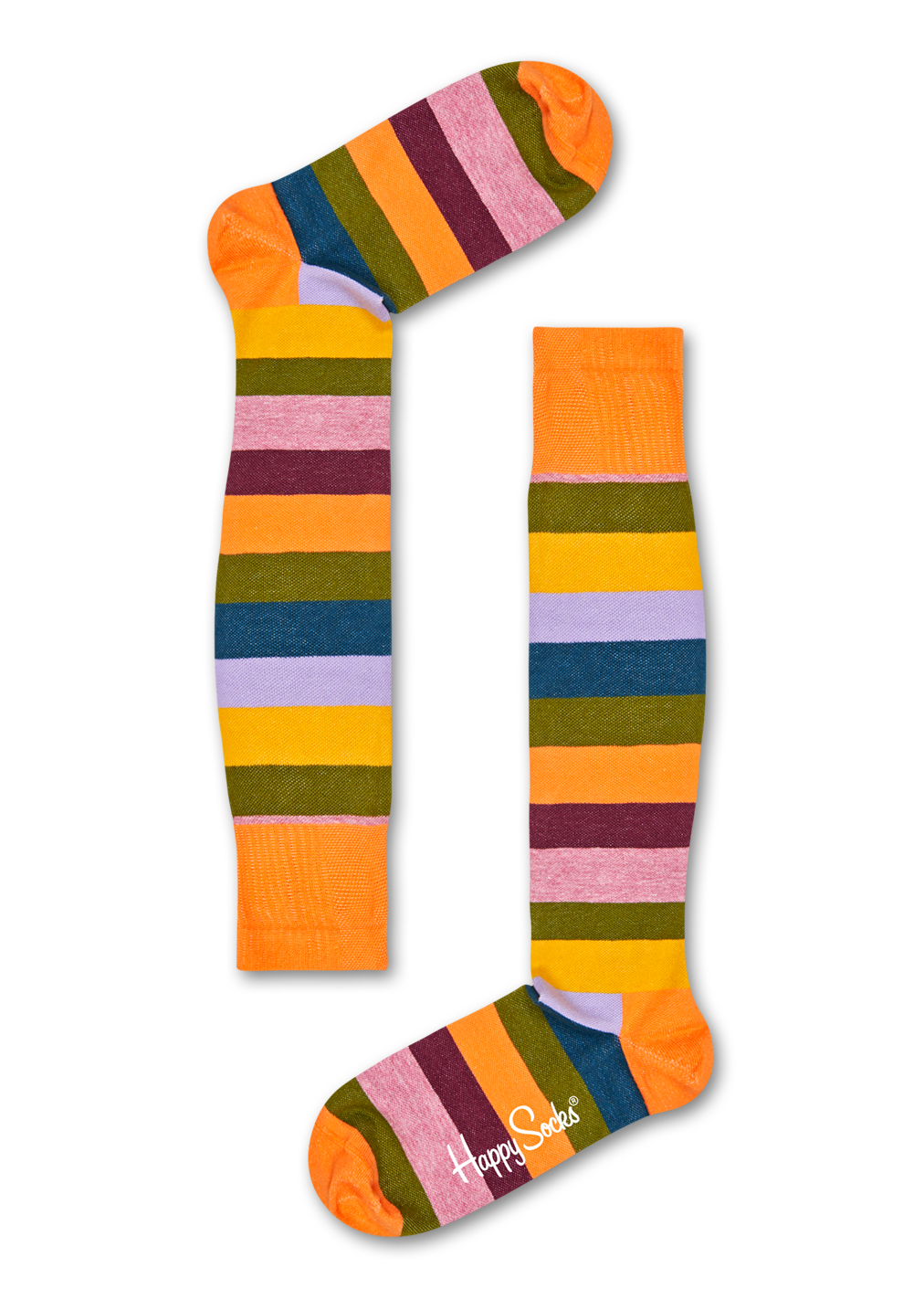 Chaussettes de contention rayées Compression Stripe, Taille 45-47