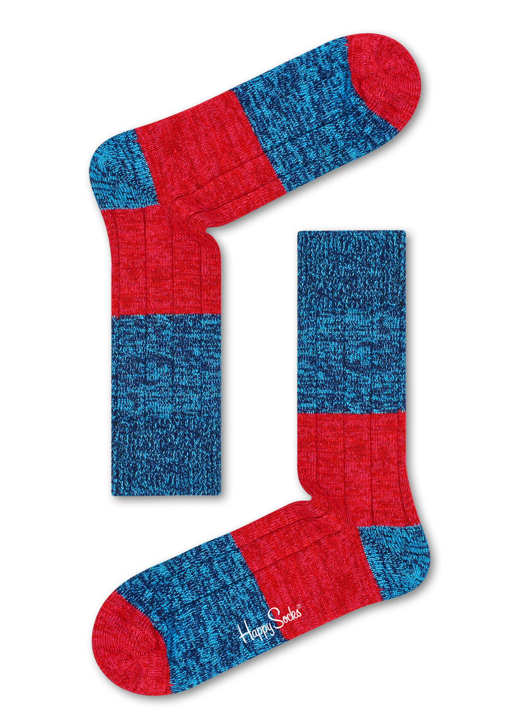 Wool Blocked Rib Sock