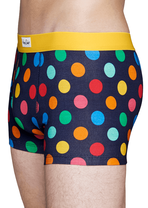 happy socks male big dot trunk size l