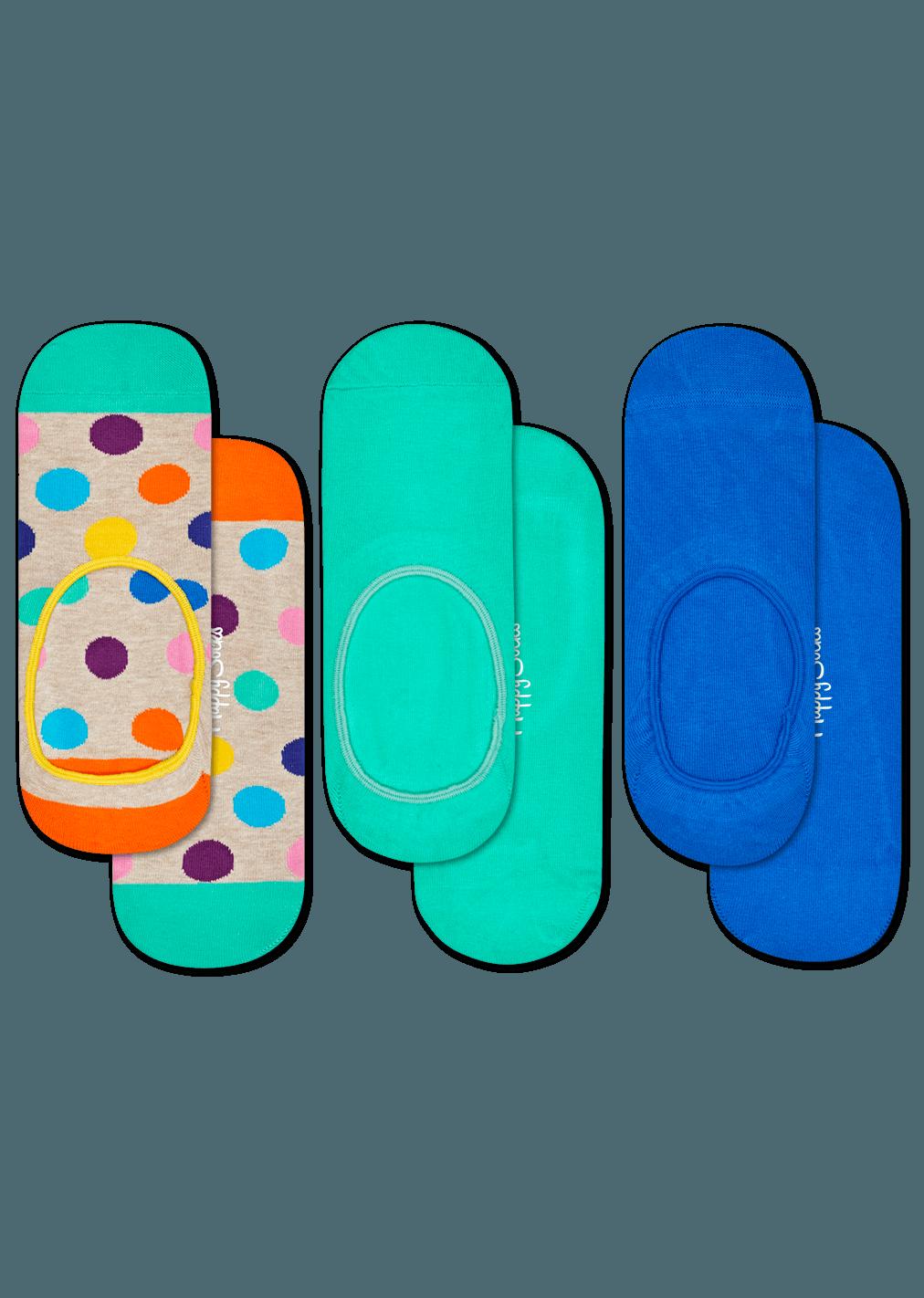 3-Pack Big Dot Liner Sock