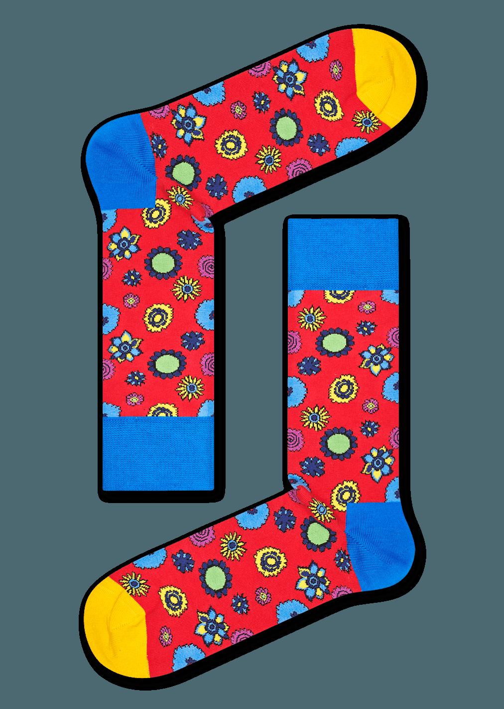The Beatles Flower Power Sock