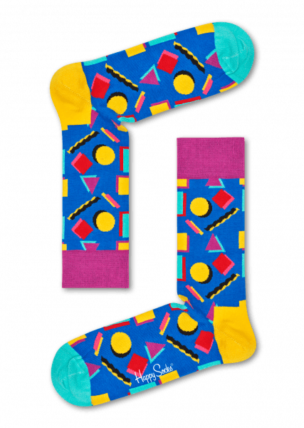 c451c4816d1 Modré ponožky  Vzor Nineties