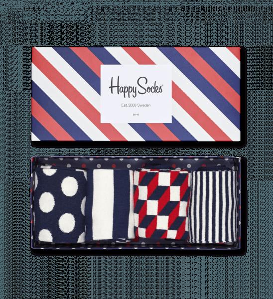 c40a07907ba Dárkovou krabičkou s ponožky 4-Pack  Stripe