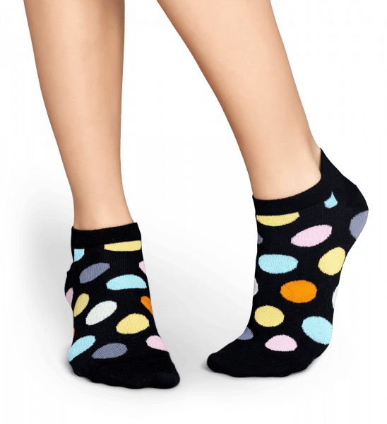 Černá nízkými ponožky  Big Dot vzor  a1791364bf