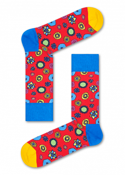 Exclusive The Beatles Socks Flower Power Happy Socks