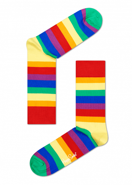 Cool Socks for Gay Pride in Rainbow-coloured Stripes ...