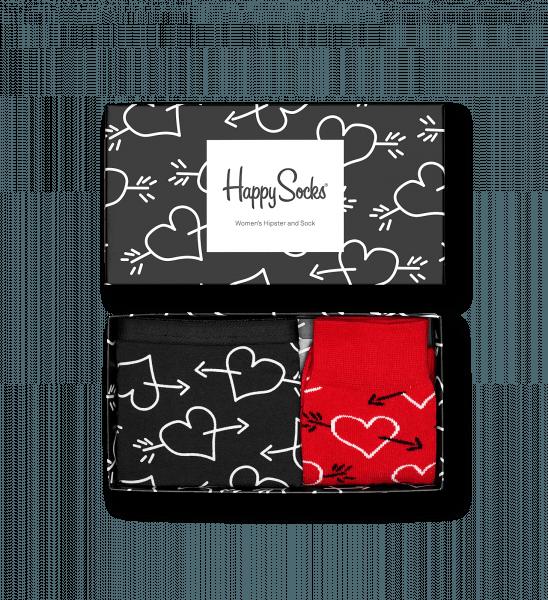 valentine boxer brief gift box fill with fashion heart arrow pattern socks buy socks online at happy socks