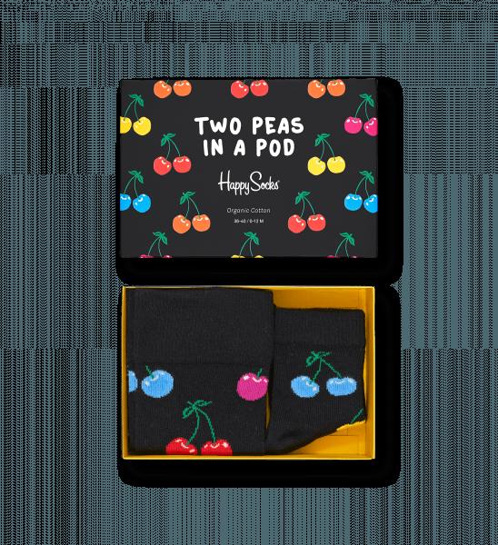 Kind Volwassenen Gift Box Cherry 2 Peas In A Pod Happy Socks