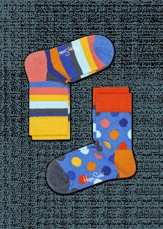 Calzini Da Bambino Blu 2 Paia Big Dot Happy Socks