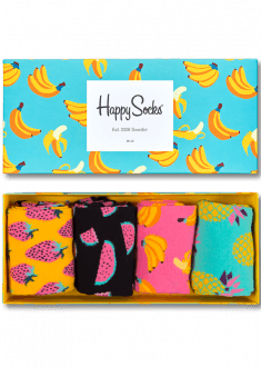 Happy socks fruit socks gift box negle Image collections
