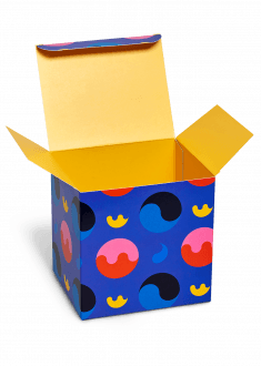 Cool gift for fun people buy gift boxes at happysocks yin yang flat pack gift box negle Image collections