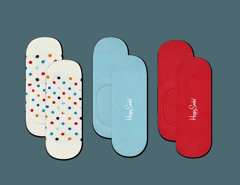 3-Pack Multi Dot Liner Sock