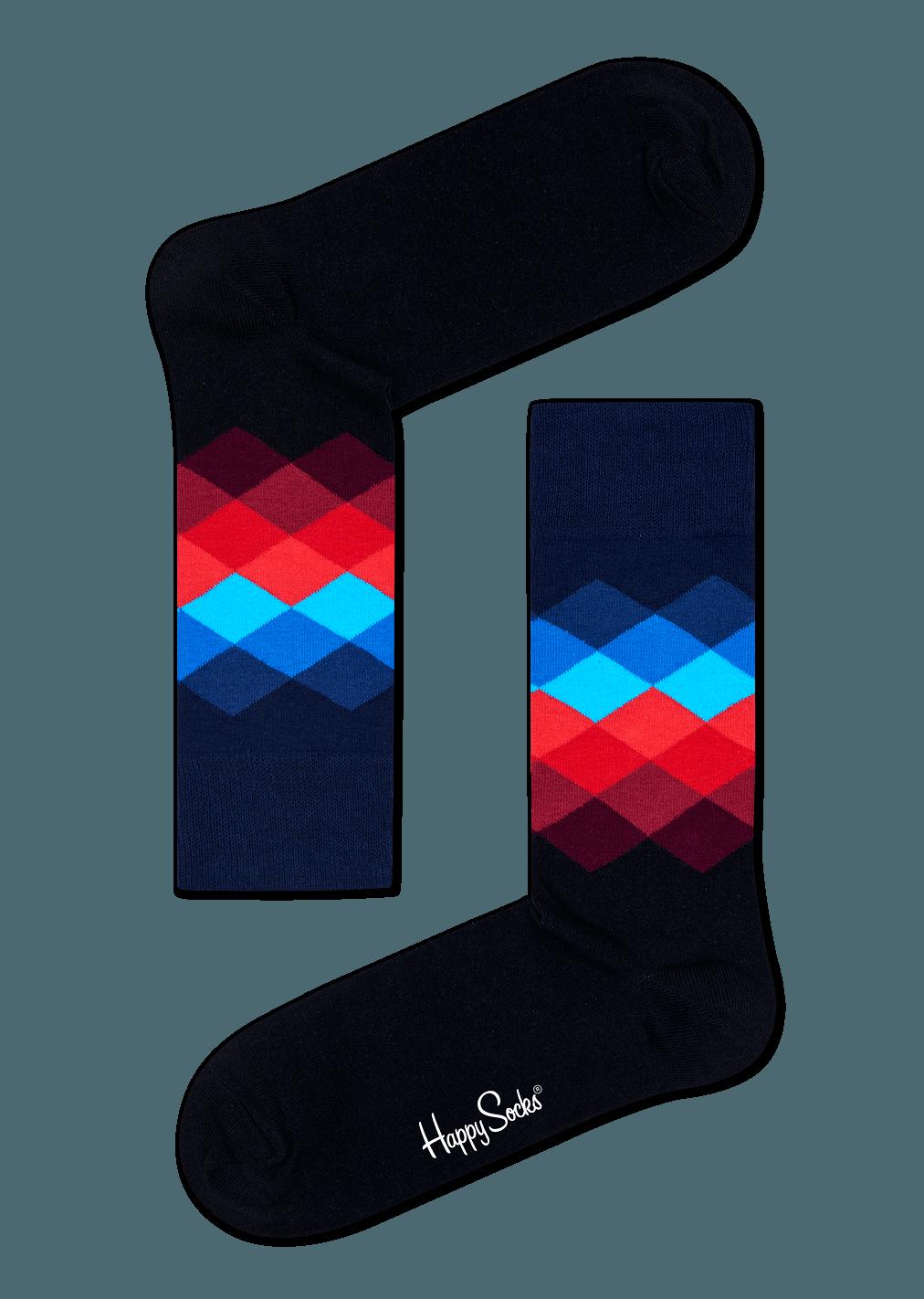 happy socks faded diamond sock size 1013