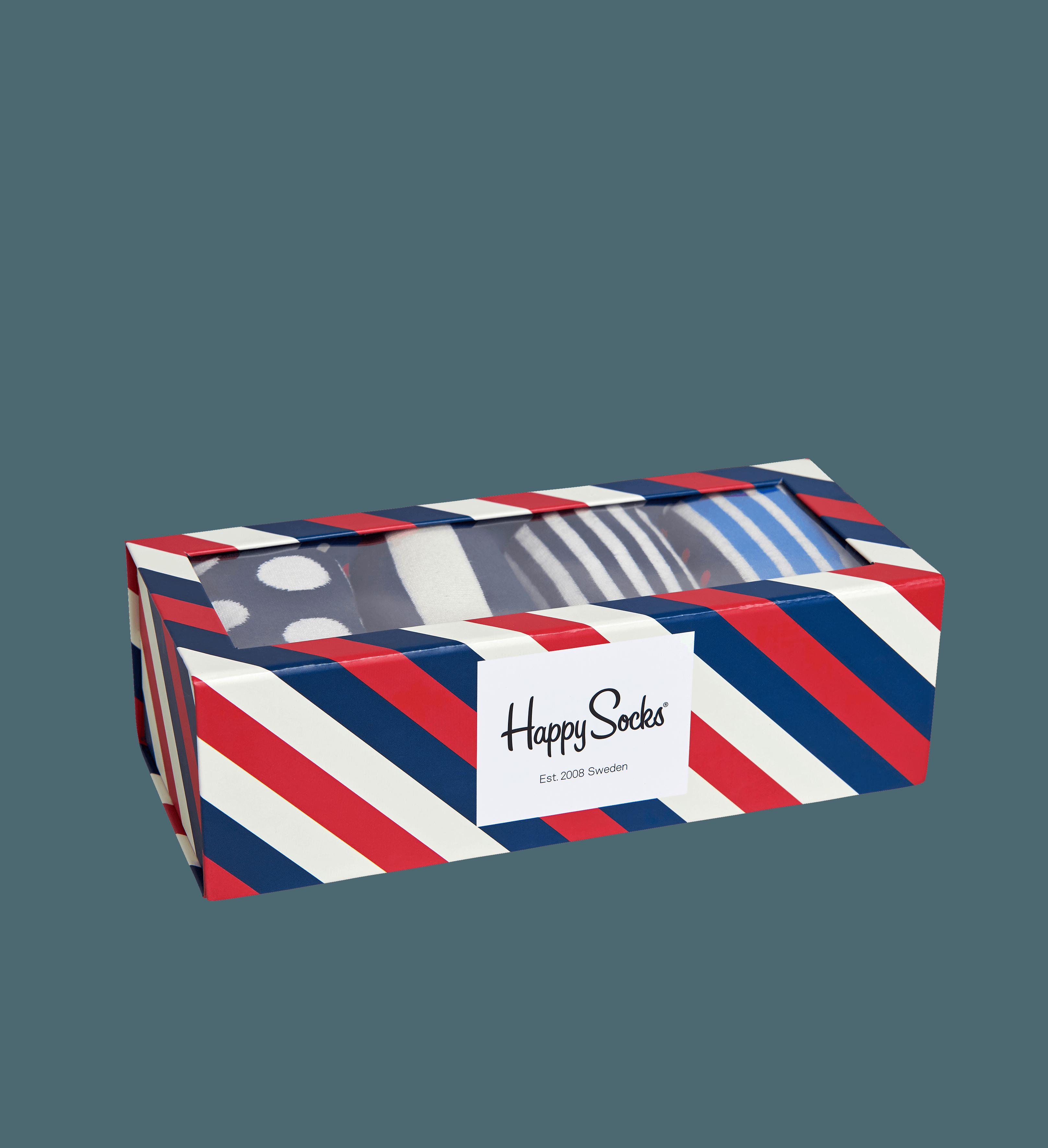 happy socks female stripe womens socks gift box size 911