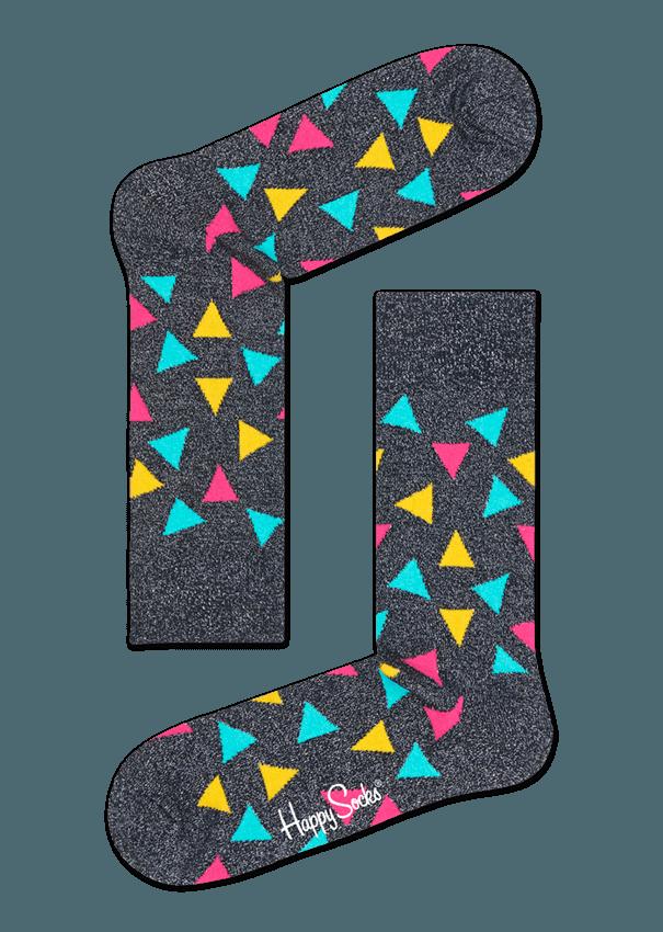 Metallic Triangle Sock